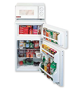 1 Photo of Refrigerator-Freezer-Microwave Combo - White