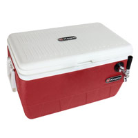 Single Faucet Jockey Box - 52 Qt., One 3/8