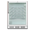 Summit SWC6GWLCSS 51-Bottle Wine Refrigerator - SS Cabinet/White Door Trim