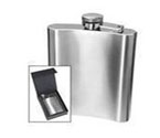 Oggi 7248 8-Ounce HIP Flask with Filling Funnel - Stainless Steel