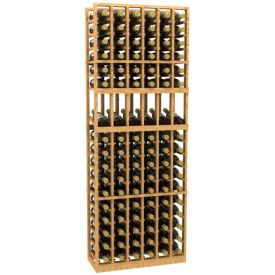 Enlarge Allavino 6 Column 102 Individual Bottle Wood Wine Rack with Display Shelf
