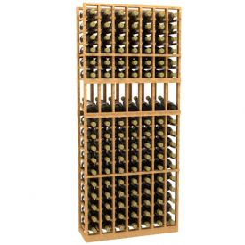 Enlarge Allavino 7 Column 119 Bottle Wood Wine Rack with Display Shelf