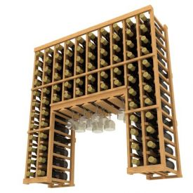 Enlarge Allavino Stackable 84 Bottle Wood Wine Rack with Glass Rack