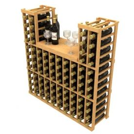 Enlarge Allavino Stackable Table Top 100 Bottle Wood Wine Rack