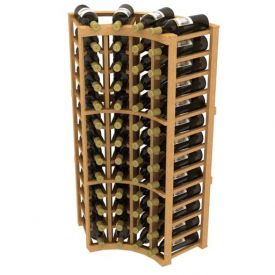Enlarge Allavino Stackable Curved Corner 48 Bottle Wood Wine Rack