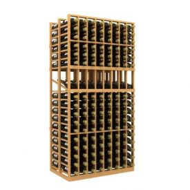 Enlarge Allavino Double Deep 8 Column 272 Bottle Wood Wine Rack with Display Row