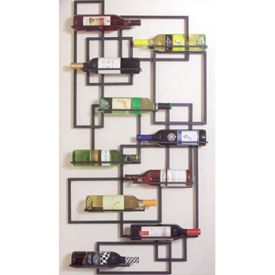 Enlarge Mid-Century Wall Wine Rack