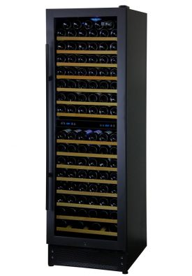 Enlarge Allavino AWR157-2BR - 166 Bottle Dual Zone Wine Refrigerator - Black Door