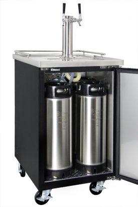 Kegco Commercial Grade Homebrew Kegerator Dual Tap Keg