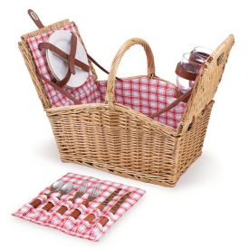 Enlarge Picnic Time Piccadilly Double-Lid Picnic Basket for 2