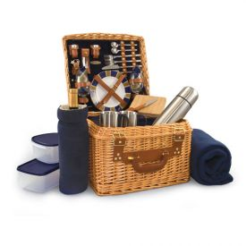 Enlarge Canterbury English Style Willow Picnic Basket for Two