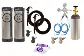 Enlarge Kegco Two Keg Homebrew Party Kegerator Kit - Ball Lock