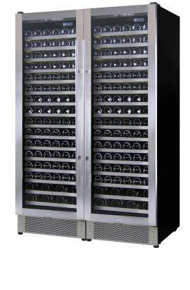 Enlarge Allavino 2X-AWR168-1SS - 336 Bottle Dual Zone Wine Refrigerator with Stainless Steel Door