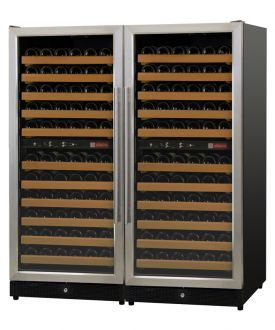 Enlarge Allavino 2X-MWR-1212-SS 222 Bottle Multi-Zone Wine Cellar Refrigerator - Black Cabinet and Stainless Doors
