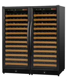 Enlarge Allavino 2X-MWR-1271-BB 244 Bottle Wine Cellar Refrigerator - Black Cabinet and Doors