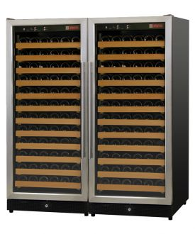 Enlarge Allavino 2X-MWR-1271-SS 244 Bottle Wine Cellar Refrigerator - Dual-Zone  Black Cabinet with Stainless Doors