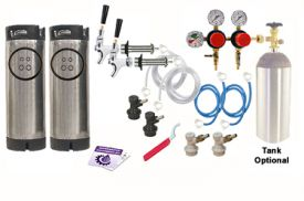 Enlarge Kegco Two Keg Dual Pressure Door Mount Homebrew Kegerator Kit - Ball Lock