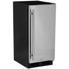 Enlarge Marvel 30IMAT-BS-F-R Built-In ADA Compliant Clear Ice Maker - Black Cabinet and Stainless Steel Door