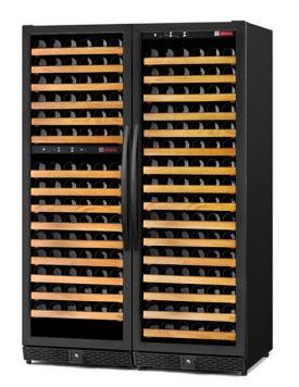 Enlarge Allavino MWR-3Z-BLACK 340 Bottle Three Zone Wine Cellar -  Side By Side - Black Cabinet and Door