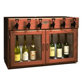 Enlarge WineKeeper Napa 6 Bottle 3 Red 3 White Wine Dispenser Preservation Unit - Mahogany - 7994