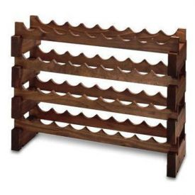 Enlarge 48 Bottle Modular Wine Rack - Stained