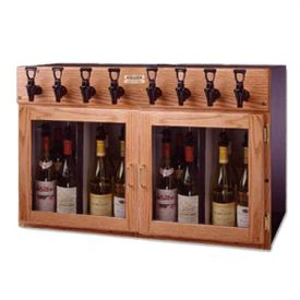 Enlarge WineKeeper 4X4-O2RN- Napa 8 Bottle Wine Dispenser Preservation Unit - Oak