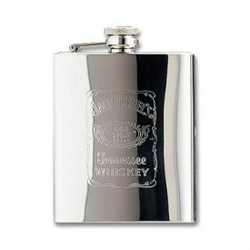 Enlarge Jack Daniel's Stainless Steel Hip Flask - 7 oz.