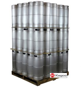 Enlarge Pallet of 75 Kegco HS-K5G-DDI Kegs - 5 Gallon Commercial Keg with Drop-In D System Valve