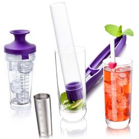 Enlarge Vacu Vin Cocktail Set - Purple