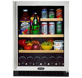 Enlarge Marvel 6GARM-BS-G-R Luxury Series Beverage Center - Stainless Steel Framed Glass Door - Right Hand Hinge