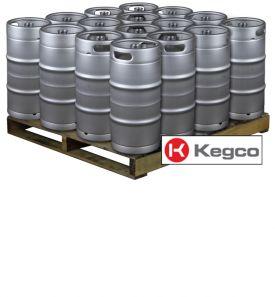 Enlarge Pallet of 16 Kegco HS-K7.75G-DDI Kegs -  7.75 Gallon Commercial Keg with Drop-In D System Sankey Valve