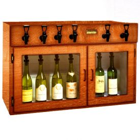 Enlarge WineKeeper Sonoma 6 Bottle Wine Dispenser Preservation Unit - Mahogany - 8027