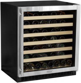 Enlarge Marvel 8SWCE-BB-G-R 68-Bottle Digital Wine Cellar - Black Cabinet and Black Door