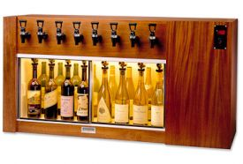 Enlarge WineKeeper The Magnum  8-MR - 8 Bottle Wine Dispenser Preservation Unit - Mahogany
