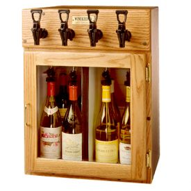Enlarge WineKeeper Sonoma 4 Bottle Wine Dispenser Preservation Unit - Oak - 9307