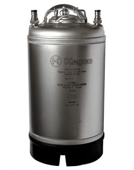 Enlarge Kegco Home Brew Beer Keg - Ball Lock 3 Gallon Strap Handle