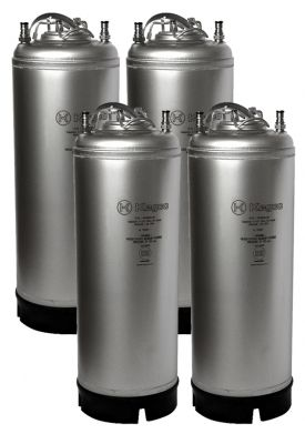 Enlarge Kegco Kombucha Kegs - Ball Lock 5 Gallon Strap Handle - Brand New - Set of 4
