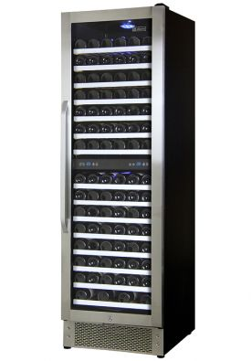 Enlarge Allavino AWR157-SRNA - 166 Bottle Dual Zone Wine Refrigerator - Stainless Steel Door with Angled Handle