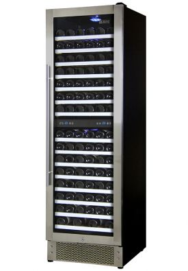 Enlarge Allavino AWR157-SRNT - 166 Bottle Dual Zone Wine Refrigerator - Stainless Steel Door with Towel Bar Handle