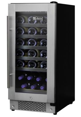 Enlarge Allavino AWR30-SRNT - 32 Bottle Built-in Wine Refrigerator - Towel Bar Handle