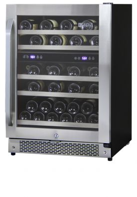 Enlarge Allavino AWR44-SRNA - 43 Bottle Dual Zone Wine Refrigerator - Angled Handle
