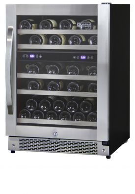 Enlarge Allavino AWR44-SRNC - 43 Bottle Dual Zone Wine Refrigerator - Curved Handle