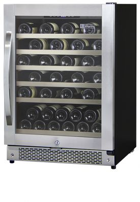 Enlarge Allavino AWR52-SRNC - 51 Bottle Built-in Wine Refrigerator - Stainless Steel Door with Curved Handle