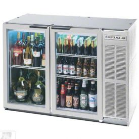Enlarge Beverage-Air BB48GY-1-S Back Bar Refrigerator w/Glass Doors - Stainless Steel