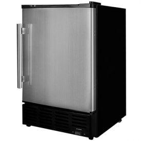 Enlarge Summit BIM24SS 10 lbs. Built-in Ice Maker - Black Cabinet with Stainless Steel Door