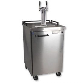 Enlarge Beverage-Air BM23S-2 Dual Faucet Keg Refrigerator - Stainless Steel