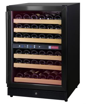 Enlarge Allavino MWR-542-BR 51 Bottle Dual Zone Wine Cellar Refrigerator - Black Cabinet with Black Door and Straight Handle