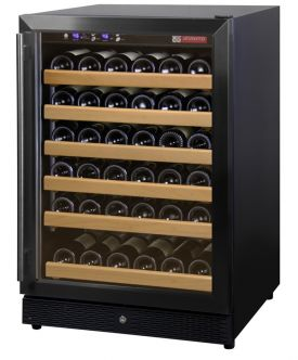 Enlarge Allavino MWR-541-BR 51 Bottle Wine Cooler Refrigerator - Black Cabinet with Black Door and Straight Handle