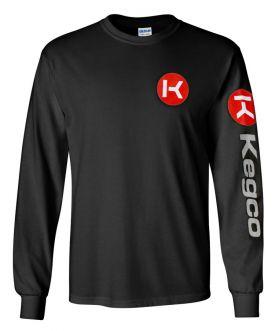 Enlarge Kegco Long Sleeve T-Shirt - Black