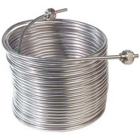 Enlarge Jockey Box Stainless Steel Cooling Coil, Left Hand, 50' x 5/16